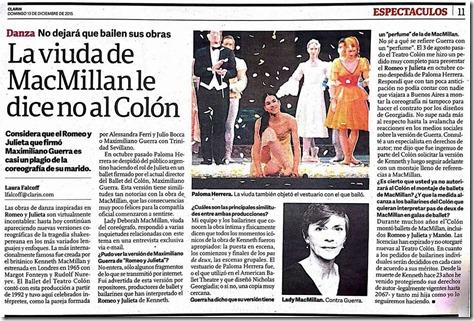 McMillan no al Colón