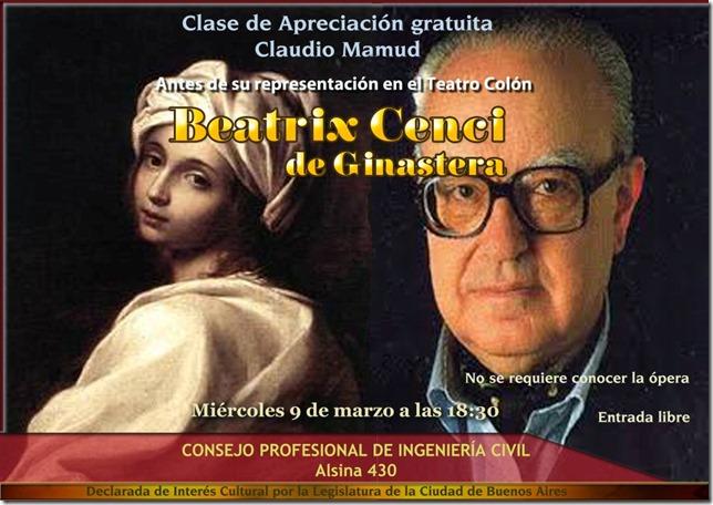 Flyer Clase Antes Colon Beatrix Cenci [1075898]